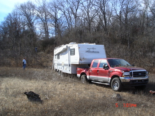 Camper trailer recovery